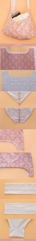 Tutorial für eine einfache Shopper-Bag/Strandtasche